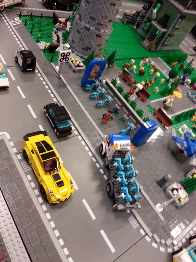 LEGO bike rack
